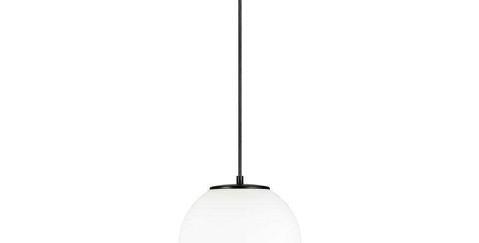 Lámpara colgante individual, blanco mate TSUKI  L 1 / S negro