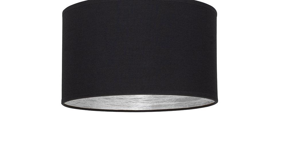 Plafón de techo de 1 Luz  Tres S 1_CP Negro/Interior plateado