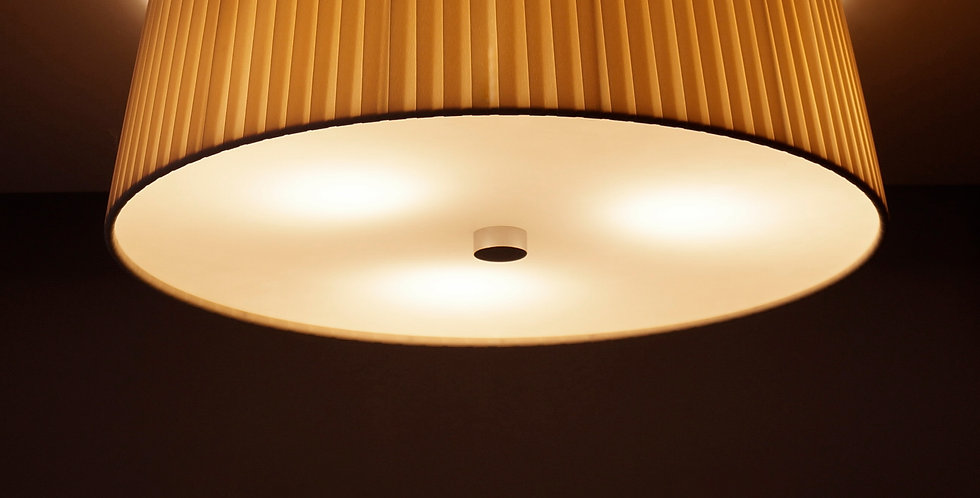 Lámpara de techo simple KAMI M 1 / C, crema