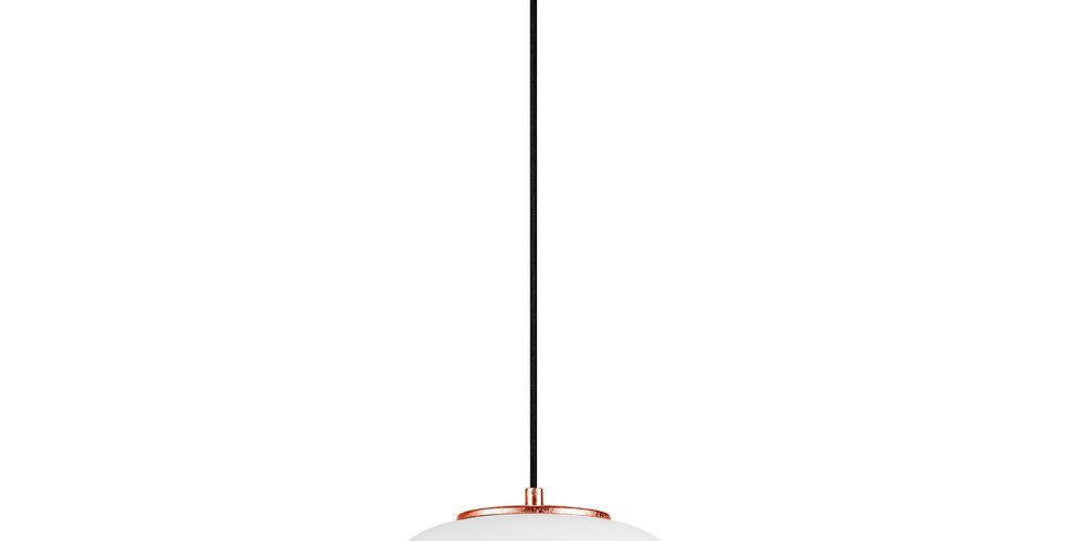 DOSEI ELEMENTARY 1/S Colgante de 1 Luz Pantalla de Vidrio Opalino soporte cobre