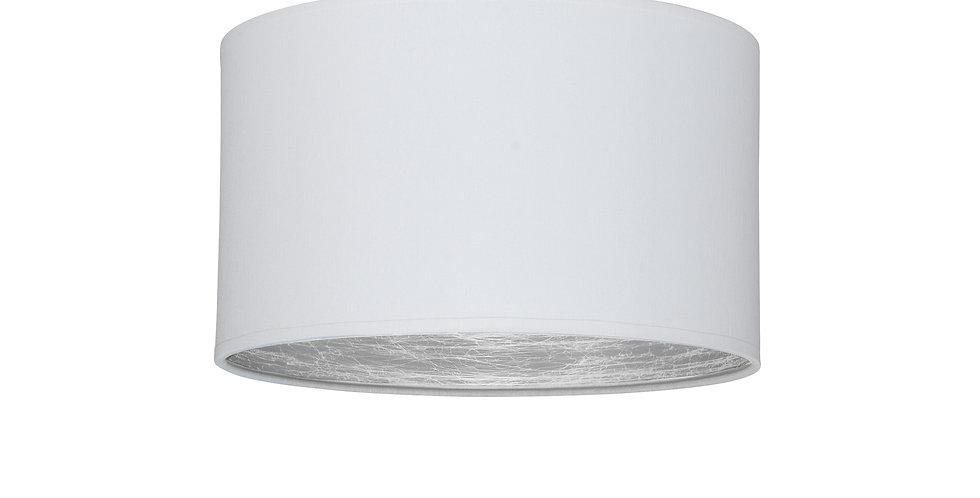 Plafón de techo de 1 Luz  Tres S 1_CP Blanco/Interior plateado
