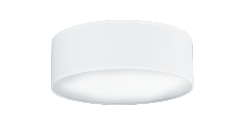 Lámpara de Techo de 3 Luces con Pantalla de Tela de Diseño Mika M 1/C Blanco
