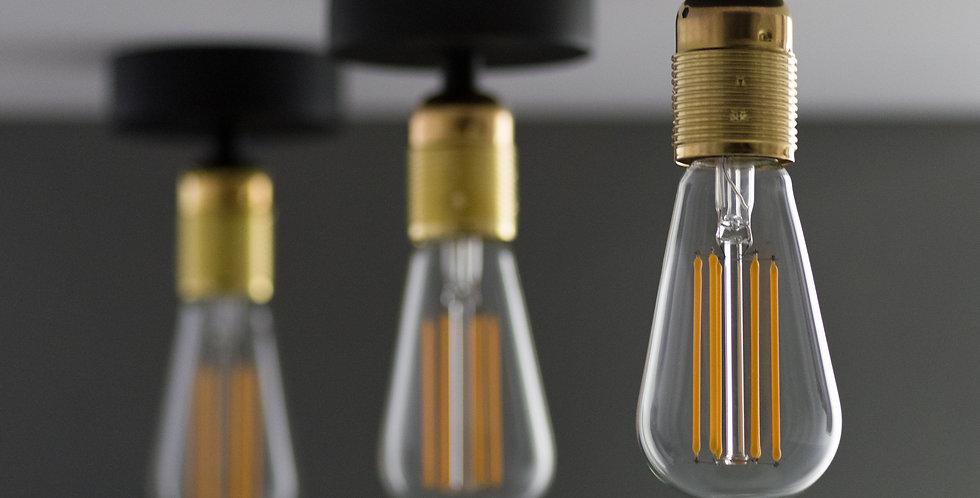 Lámpara de techo Uno 1_CP NEGRO/ORO