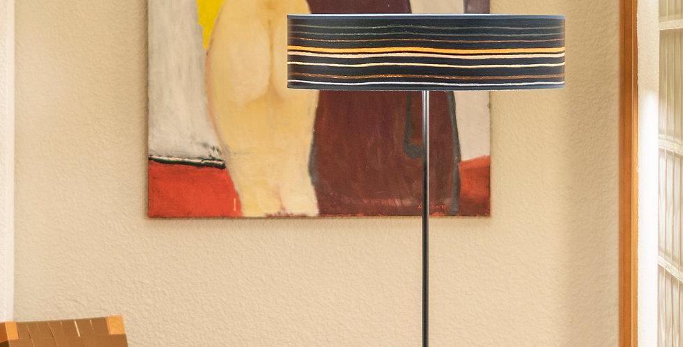 Lámpara de pie con tres bombillas Ocho Slim 1_F Azul rayado multicolo