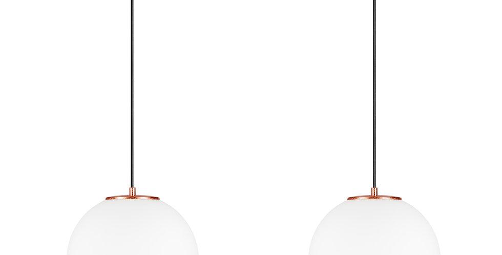 Lámpara colgante doble, blanco mate TSUKI L 2 / S Cobre