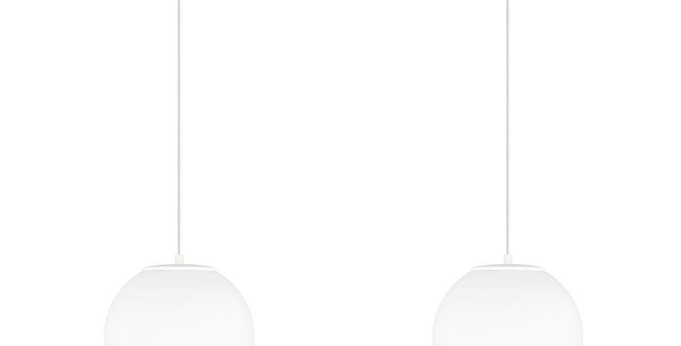 Lámpara de techo colgante doble Tsuki M 2_S Cable blanco