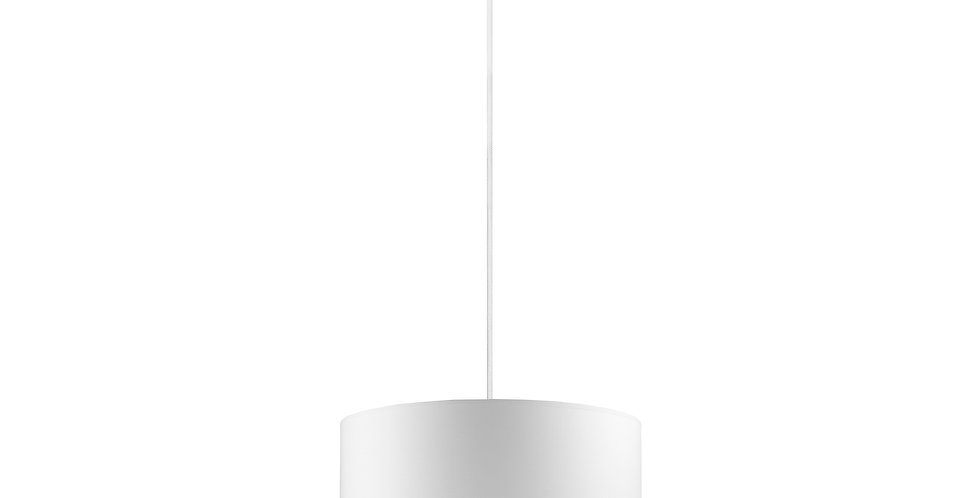 Lámpara de Techo con Pantalla de Tela de Diseño Mika M 1_S Blanca/Dorada