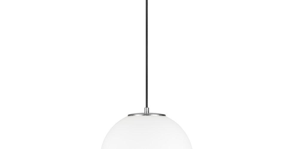 Lámpara colgante individual, blanco mate TSUKI L 1 / S Plata