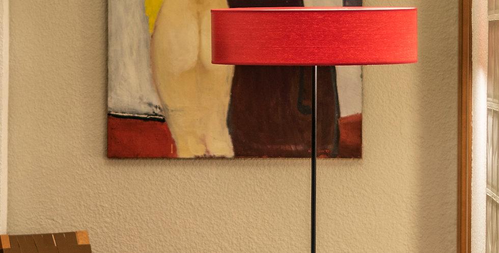 Lámpara de pie con tres bombillas Ocho Slim 1_F Cereza