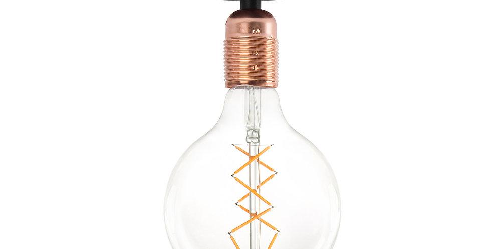 Lámpara de techo (plafón) Bi 1_CP Negro/Cobre