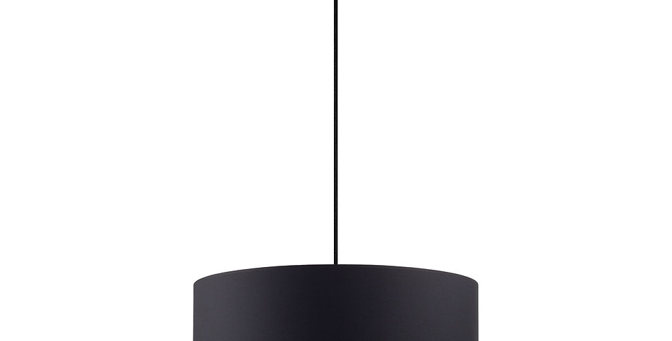 Lámpara colgante MIKA XL 1 / S  Negro/Plata