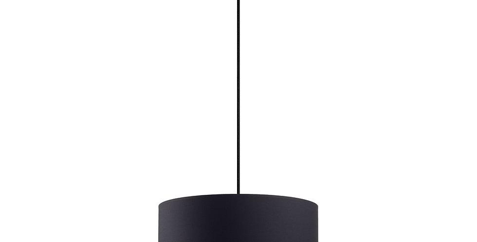 Lámpara colgante simple Mika L 1 / S Negra/Plata