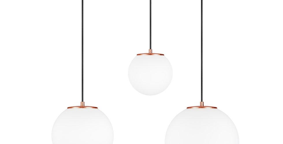 Lámpara colgante triple, blanco mate TSUKI MIX  L, M, S 3 / S Cobre