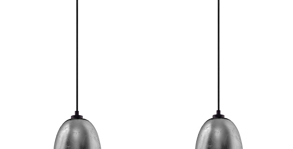 Sotto Luce-Lámpara colgante doble AWA 2 / S, Plata