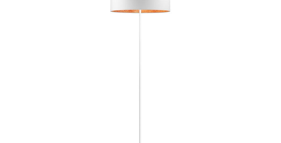 lámpara de pie MIKA L 1 / F Blanco/Cobre