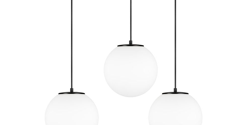Lámpara de techo colgante triple Tsuki M 3_S Blanco/Cable negro