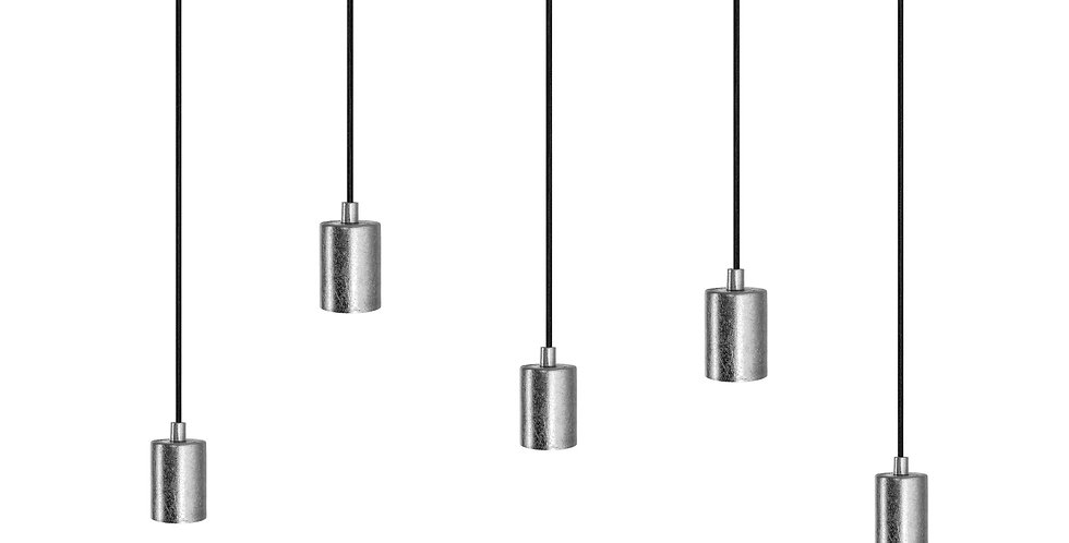 Lámpara de techo quíntuple Cero 5_S PLATA