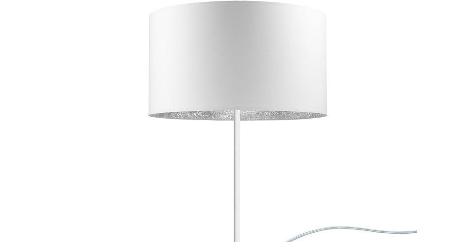 Lámpara de sobremesa MIKA M 1 / T Blanca/Plateada