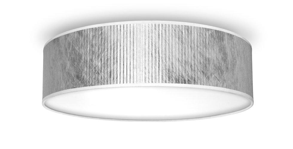 Lámpara de Techo de 3 Luces con Pantalla de Diseño Tres Plisado L C_1 PLATA