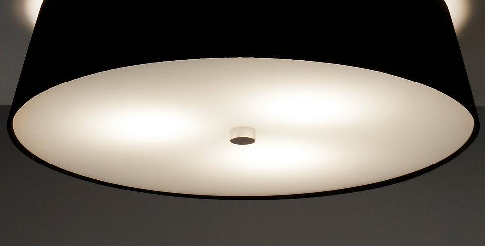 Lámpara de techo simple KAMI L 1 / C negro