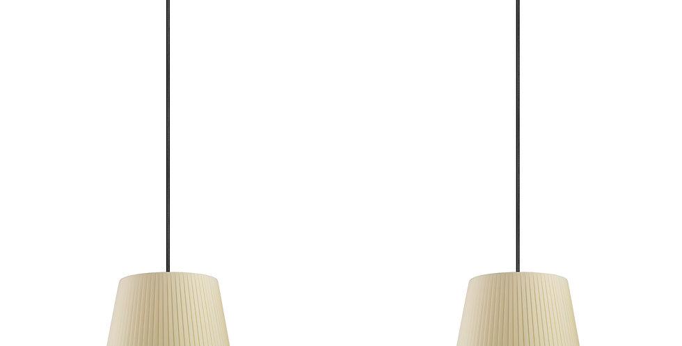 Lámpara colgante doble Kami S 2_S Crema