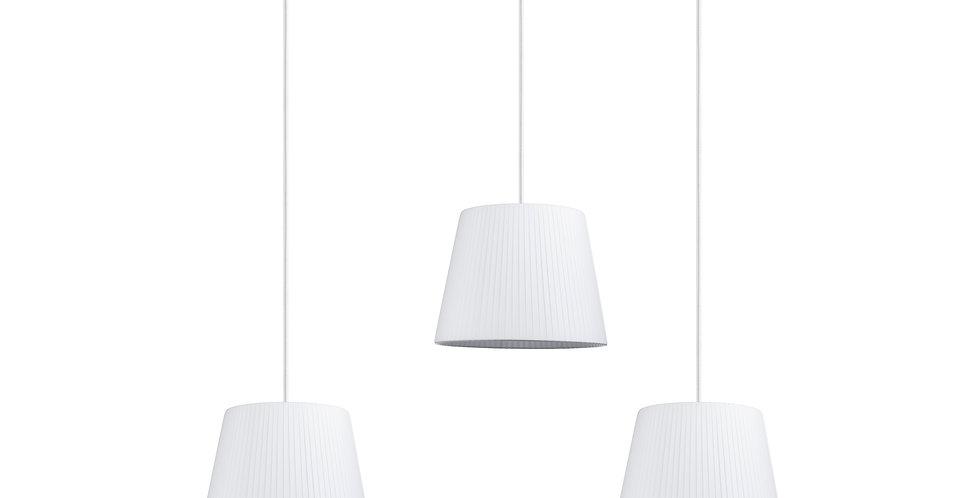 Lámpara colgante triple Kami S 3_S Blanco
