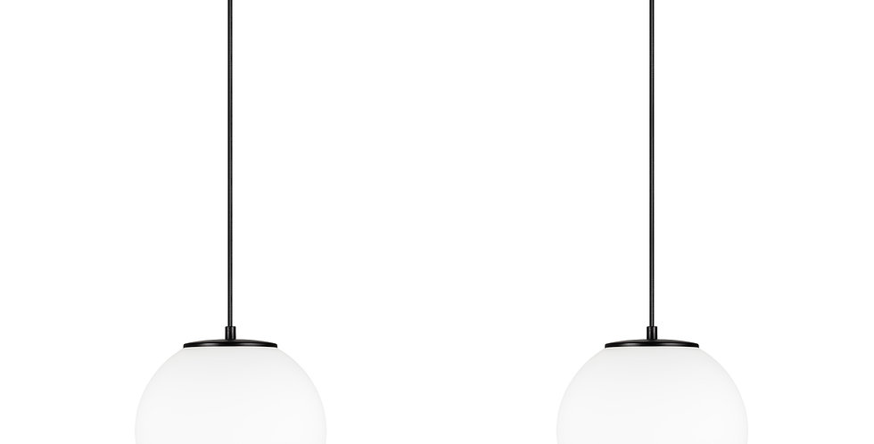 Lámpara colgante doble, blanco mate  TSUKI M 2 / S Negra