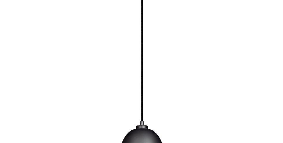 Lámpara de techo colgante Awa 1S  pantalla negro mate, cable negro