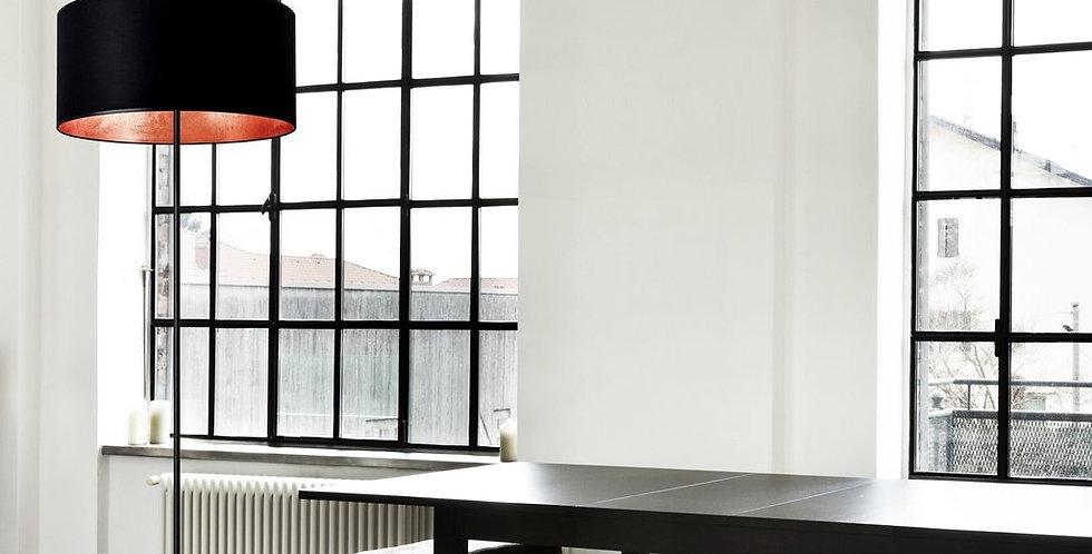 Lámpara de pie MIKA XL 1 / F Negra/Cobre