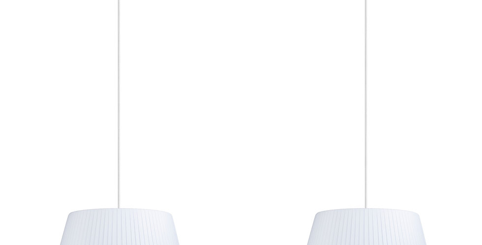 Lámpara colgante doble Kami M 2_S Blanco