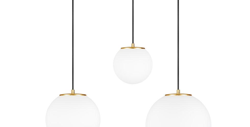 Lámpara colgante triple, blanco mate TSUKI MIX  L, M, S 3 / S Oro