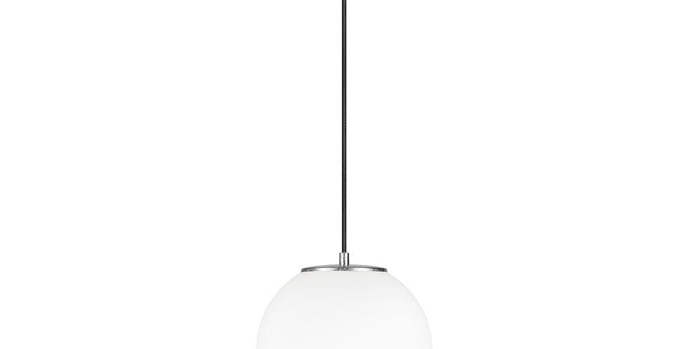 Lámpara colgante individual, blanco mate TSUKI  M 1 / S Plata