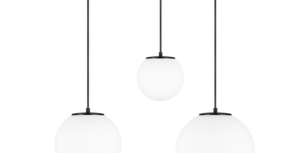Lámpara colgante triple, blanco mate TSUKI MIX  L, M, S 3 / S