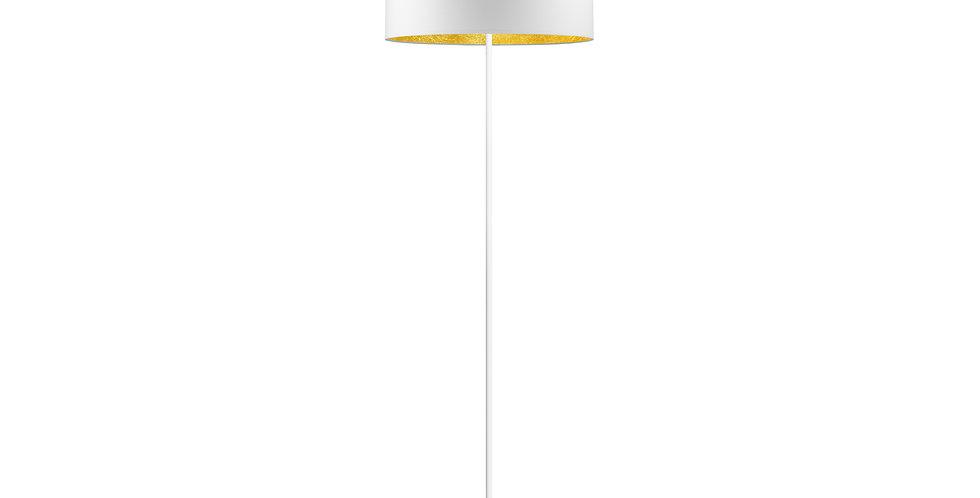 lámpara de pie MIKA L 1 / F Blanco/dorado
