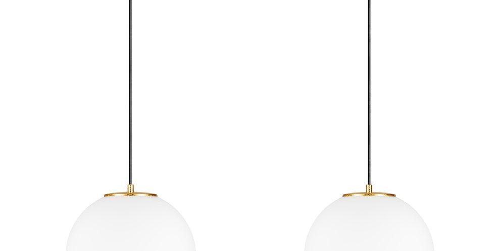 Lámpara colgante doble, blanco mate TSUKI L 2 / S Oro