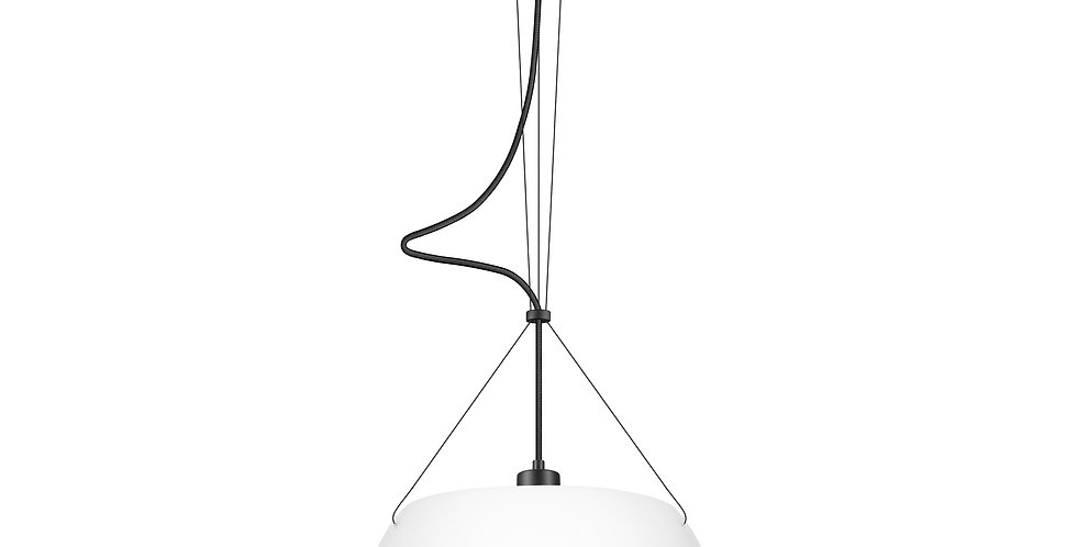 Lámpara colgante individual MOMO1 / S Blanca/Dorada