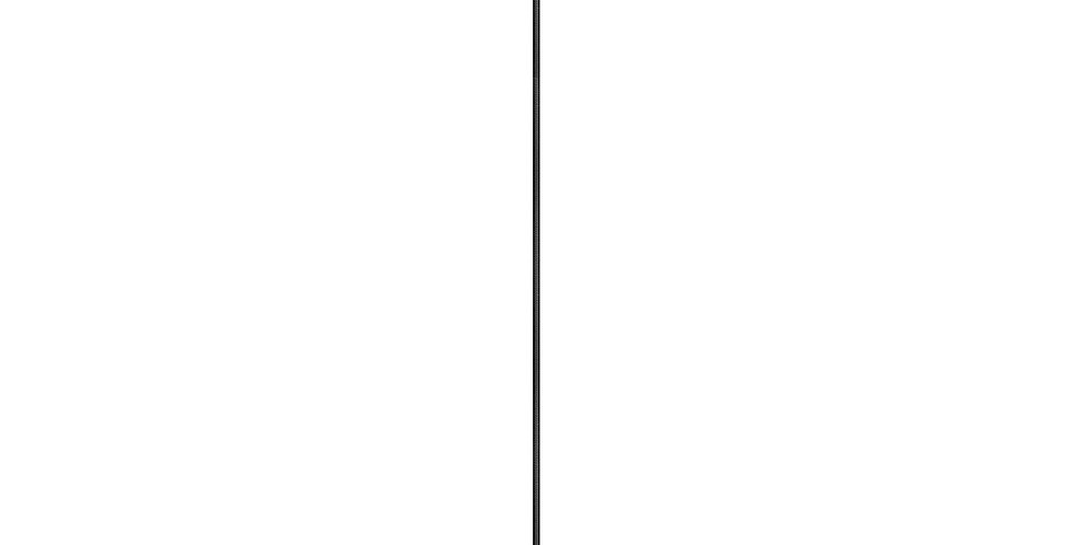 Lámpara de techo Cinco 1_S NEGRO/PLATA