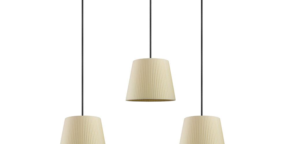 Lámpara colgante triple Kami S 3_S Crema