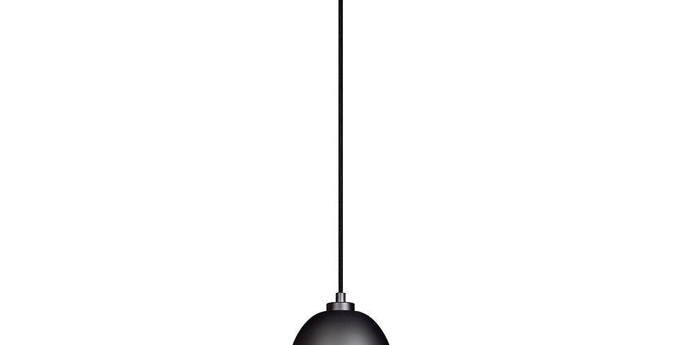 Lámpara de techo colgante Awa 1S   pantalla negro mate/pan de plata cable negro
