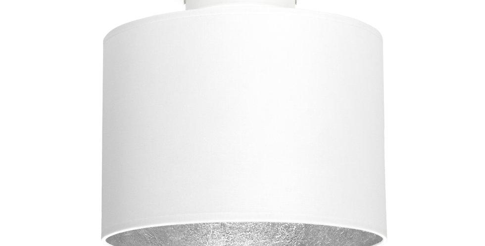 Lámpara de Techo con Pantalla de Tela de Diseño Mika S 1_CP Blanco/Plata
