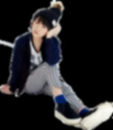 Kudo Haruka in sitting pose