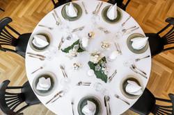 Brauttisch bei Galabestuhlung
