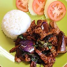 Spicy Basil Eggplant