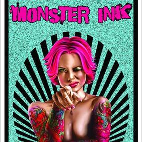 Monster Ink Tattoos business card design (Front)