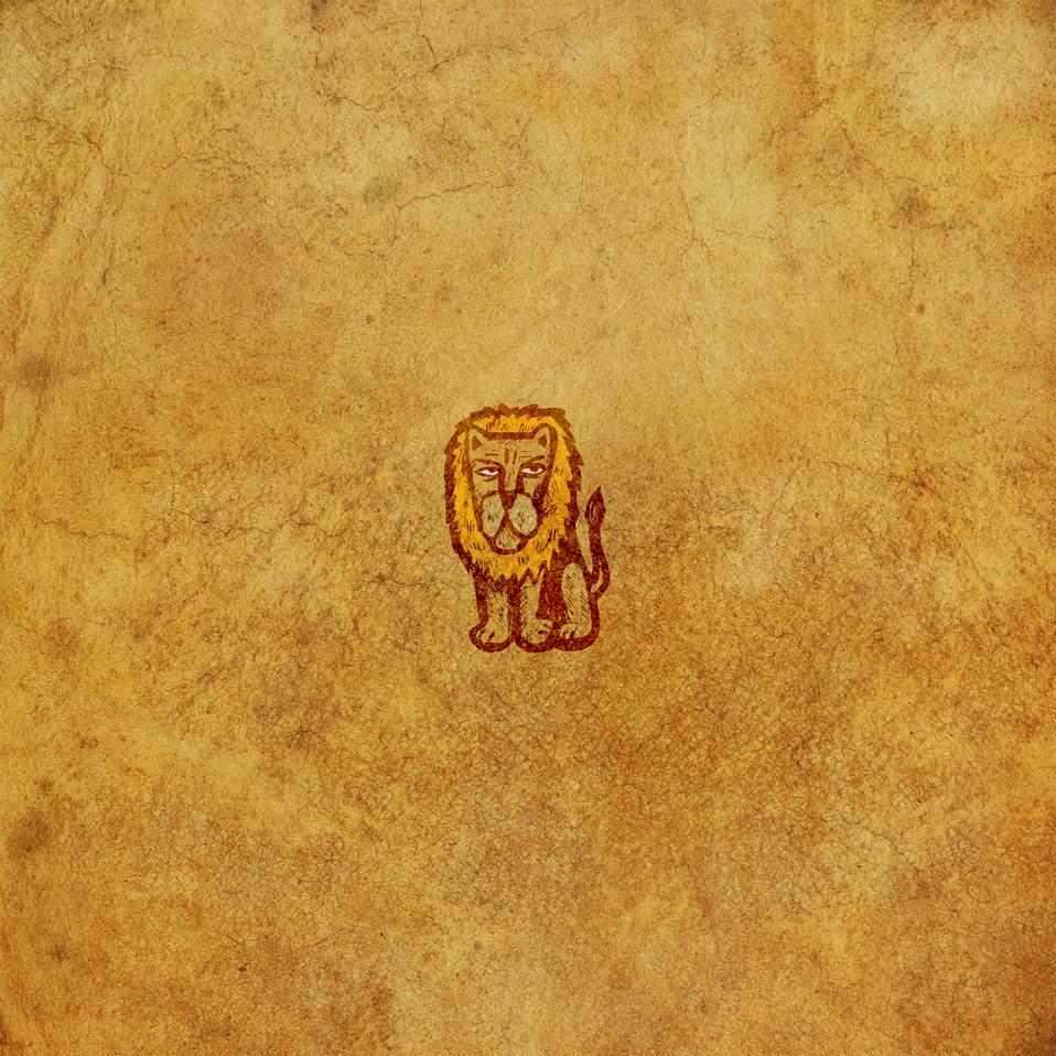 Lion graphic art piece