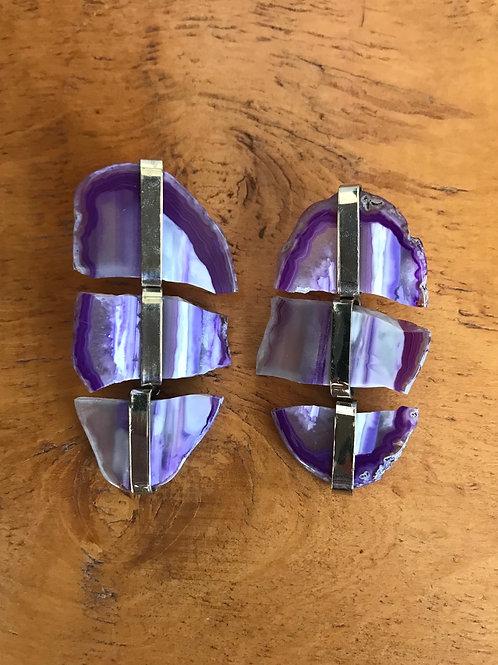 Caravana en piedra violeta con apliques