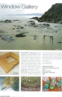 Article about Rachel Max's baskets in Canary Wharf Magazine in