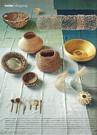 Wicker World, House and Garden Magazine - image of Line of Blue by Rachel Max