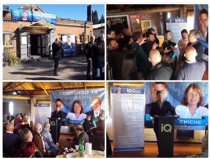 Walter Di Giuseppe inauguró local y saludo a los periodistas en su día