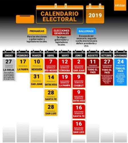 Ya están todas las fechas para las elecciones 2019